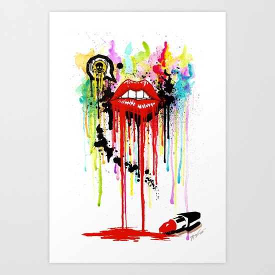 Poison Lips Art Print