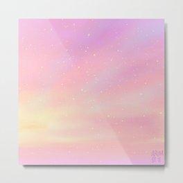 Bubblegum Sky Metal Print