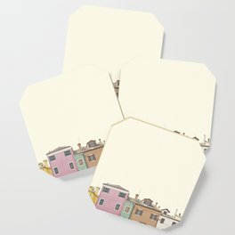 Colored Houses Coaster