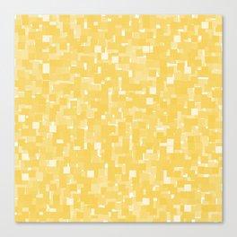 Primrose Yellow Pixels Canvas Print
