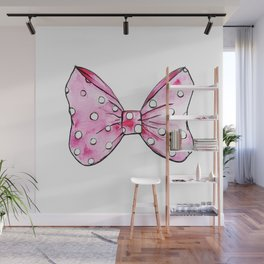 Pink bow Wall Mural