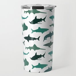 Green Sharks Travel Mug
