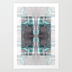 Ballet Shoe Blue reflection Art Print