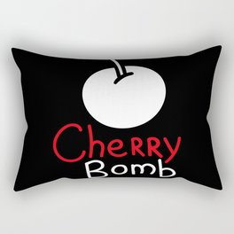 Black cherry bomb Rectangular Pillow