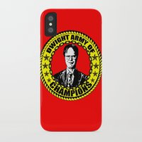 dwight iPhone & iPod Cases featuring Dwight Schrute (Dwight Army Of Champions) by Silvio Ledbetter