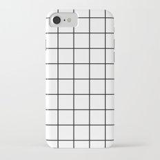 White Grid Slim Case iPhone 7