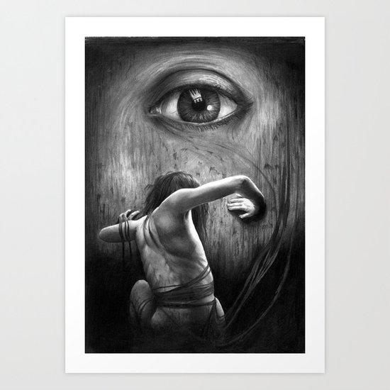 The Past - graphite pencil art Art Print