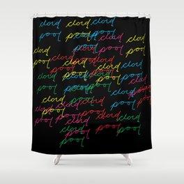 cloud pool color flip Shower Curtain
