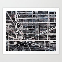 Falling night Art Print