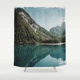 Grainy Lake Shower Curtain