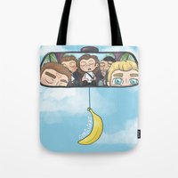 cyrilliart Tote Bags featuring Rear View Mirror by Cyrilliart