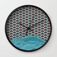koi Wall Clocks featuring Koi by John Tibbott