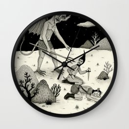 A Diabolical Act of Persuasion Wall Clock