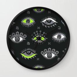Eye Spy Charcoal Wall Clock