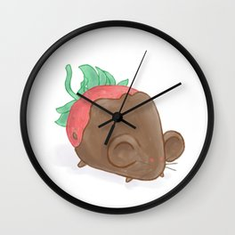 Chocolate Strawberry Mouse Wall Clock