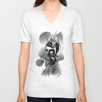 metropolis V-neck T-shirts featuring METROPOLIS by DIVIDUS