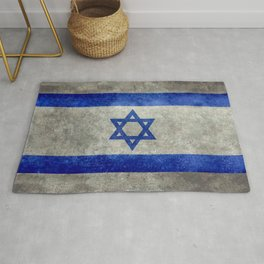 Flag of the State of Israel - Distressed worn patina Rug