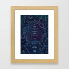 To The End Framed Art Print