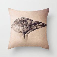 Steampunk BlackBird Throw Pillow
