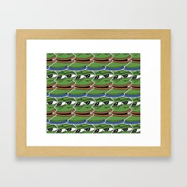 Pepe the Frog, Tiled Framed Art Print