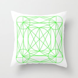 Stained Glass- Green Throw Pillow