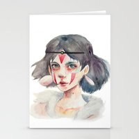 princess mononoke Stationery Cards featuring Princess Mononoke by Kazel