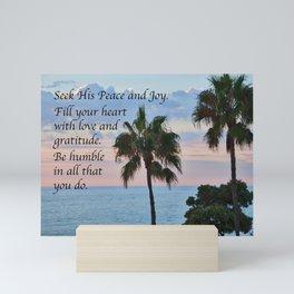 Seek His Peace: Pacific Ocean Mini Art Print