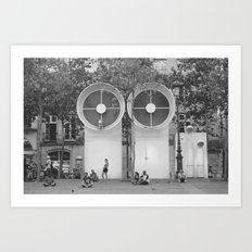 PEOPLE OF PARIS Art Print
