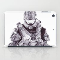 master chief iPad Cases featuring Master Chief by DeMoose_Art