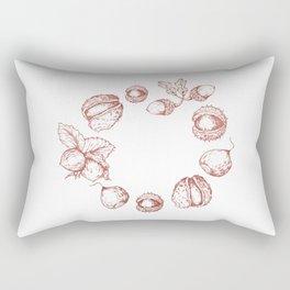 Line Art Fruits Rectangular Pillow