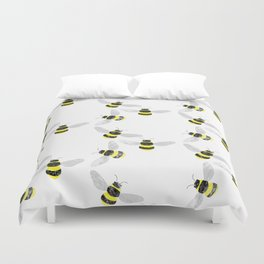 Fuzzy Bumblebees Duvet Cover