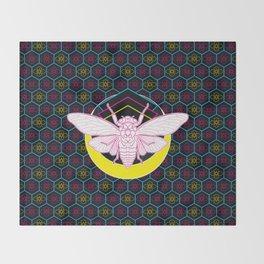 Geometric Cicada Throw Blanket