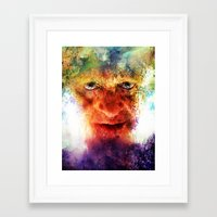 silence of the lambs Framed Art Prints featuring Silence by Rabassa