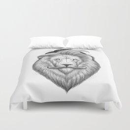 bearded lion Duvet Cover