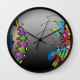 Doodled 2 Wall Clock