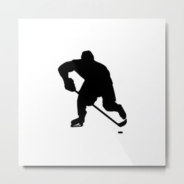Ice hockey player Metal Print