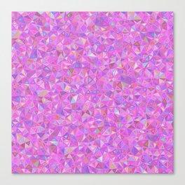 Purple Shards of Life Canvas Print