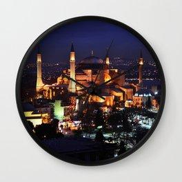 Hagia Sophia Night Wall Clock
