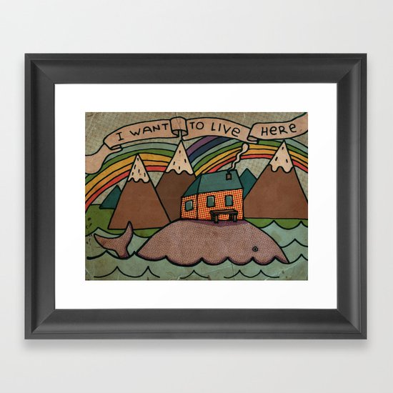 I want to live here! Framed Art Print