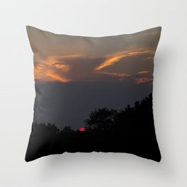 Eying the Sunset Throw Pillow