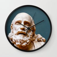 philosophy Wall Clocks featuring Philosophy of Pleasure by youngkinderhook