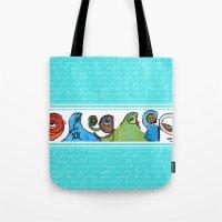 grafitti Tote Bags featuring grafitti by Noush