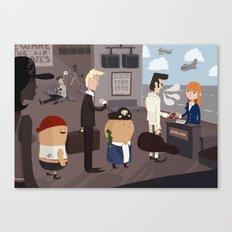 Beware the air pirates Canvas Print