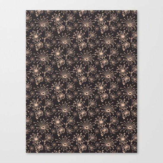 Stylized Dandelion Dark #society6 #decor #buyart Canvas Print