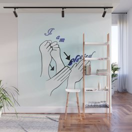 ASL I Am Blessed Wall Mural