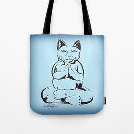 Buddha Cat Love Tote Bag