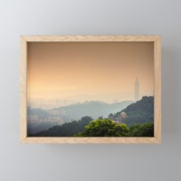 Chi Nan Temple in hills of Maokong, Taipei, Taiwan Framed Mini Art Print