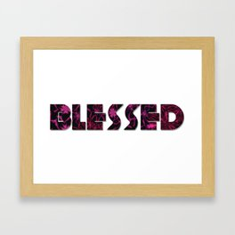 Christian Blessed Floral Framed Art Print