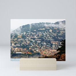 French Town by the Sea Mini Art Print