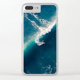 Surf from above Clear iPhone Case